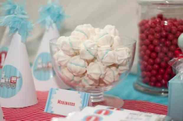 Boys Train Birthday Themed Party Candy Bowl