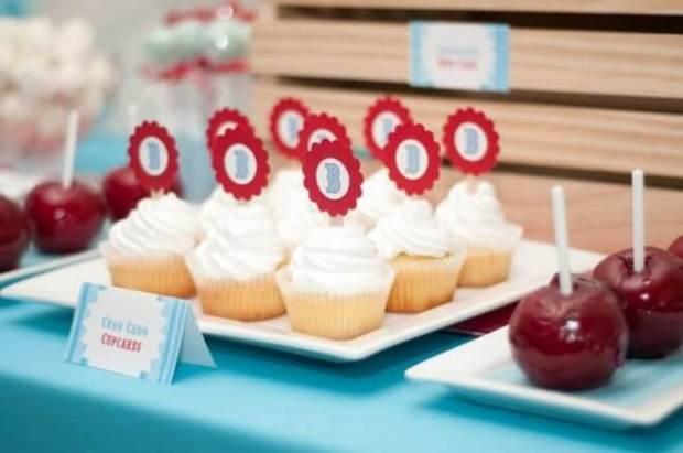 Boys Train Themed Birthday Party Cupcake Ideas