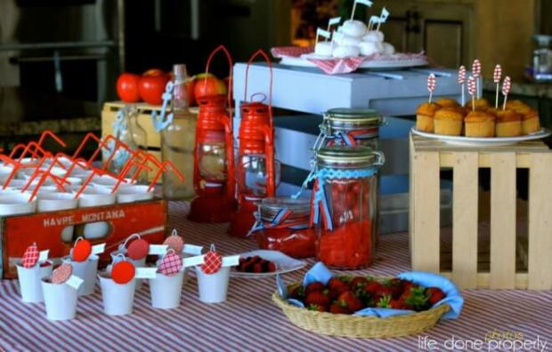 Boys Nautical Baby Shower Table Decorations