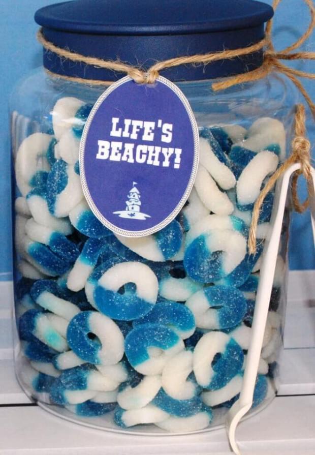Boys Beach Themed Birthday Candy Food Ideas