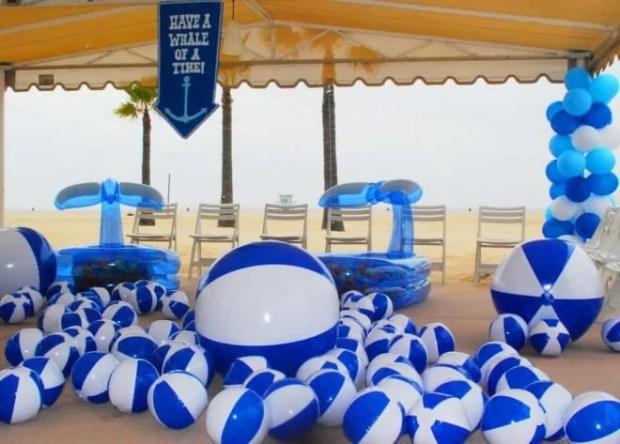Boys Beach Themed Birthday Party Beach Ball pit