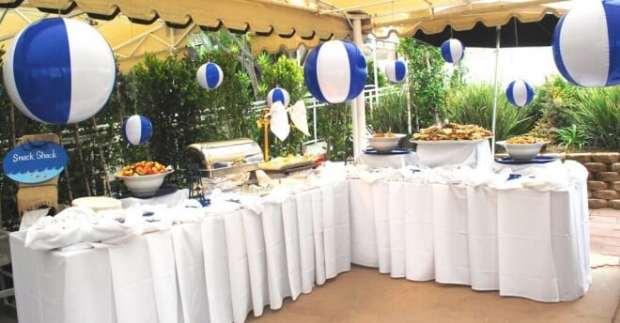 Boys Beach Themed Birthday Party Food Table Ideas