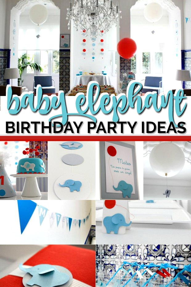 baby elephant birthday party ideas