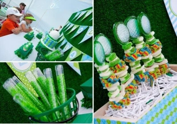 Boys GOlf Themed Birthday Party Food Recipe Ideas