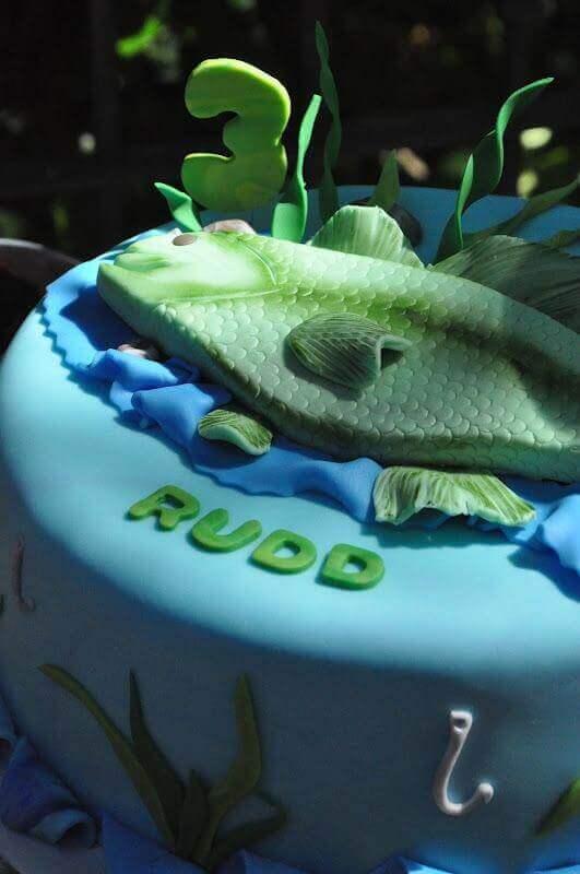 Boys Vintage Birthday Party Cake
