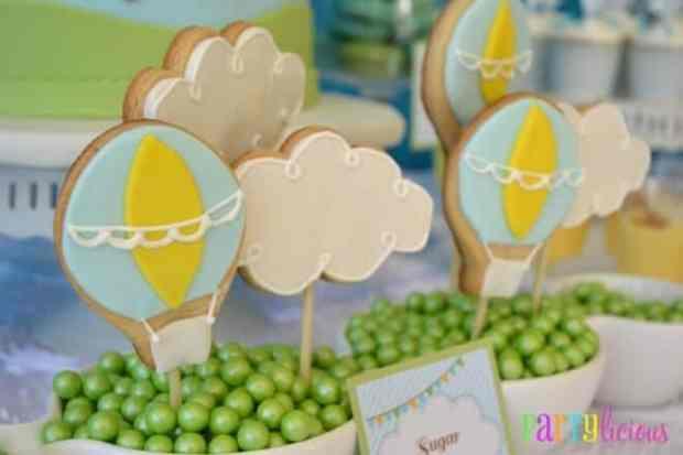 Boys Hot Air Balloon Party Cookie Ideas