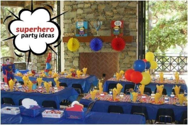 Boys Super Hero Birthday Party Candy Buffet