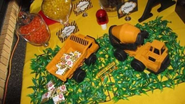 Construction Truck Birthday Party Table Centerpieces