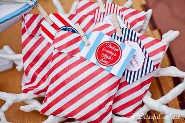 Nautical Themed Birthday Party Favor Ideas