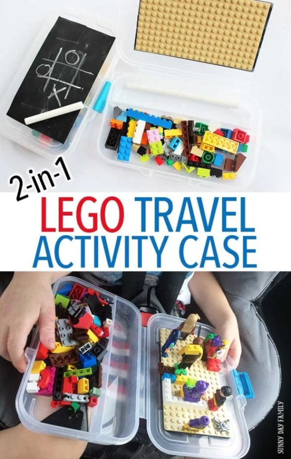 DIY Lego travel activity case