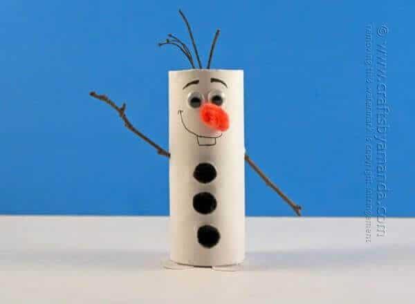 Cardboard Tube Olaf Craft