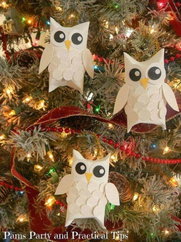 White Christmas Tree Black Ornaments