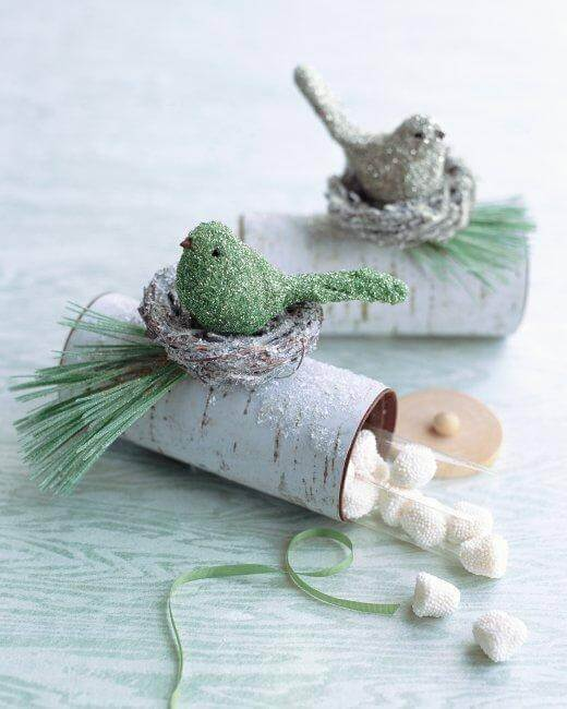 Toilet Paper Roll Crafts Yule Log