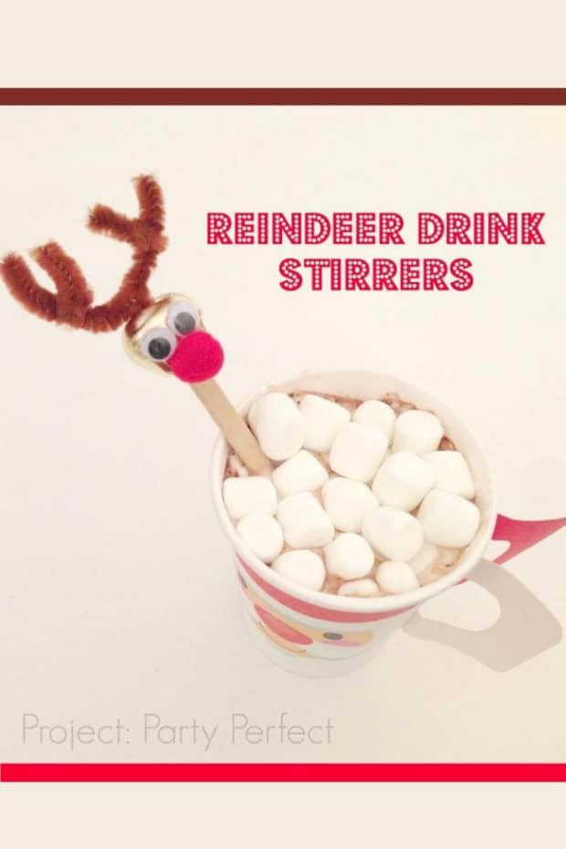 Reindeer Drink Stirrers