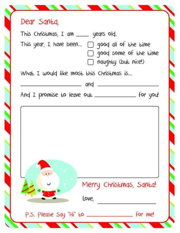 20 Free Printable Letters To Santa