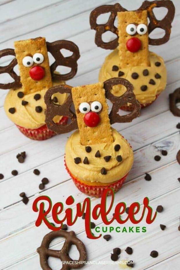 Reindeer Cupcake Decorations