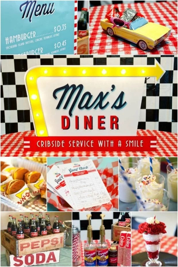 A 50s Diner Inspired Boys 1st Birthday Party