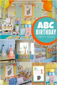 ABC Themed 1st Birthday Party