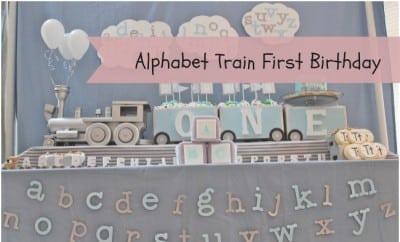 All Aboard Alphabet Train Themed Boy S 1st Birthday