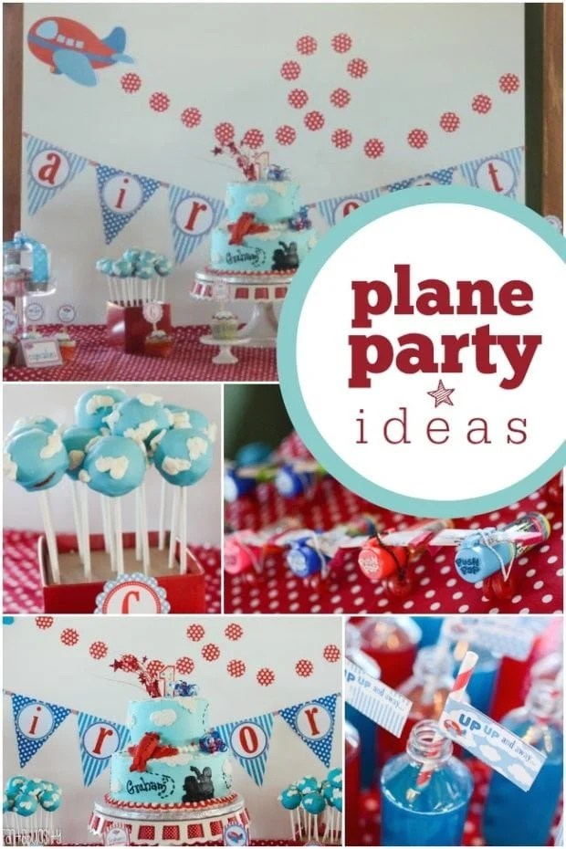 Cute Nautical Wallpaper High Flying Airplane Themed Boy S First Birthday Party