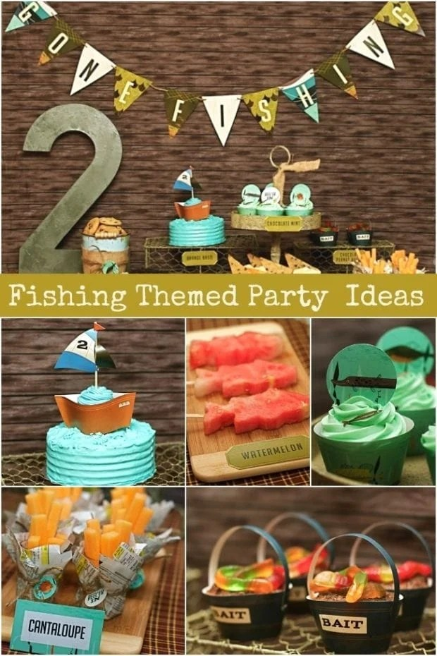 New Vintage Fishing Party Dessert Table Spaceships