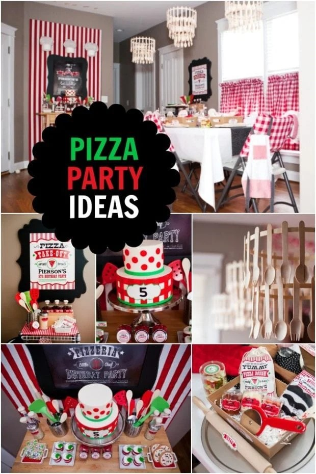 classic event chair covers casters for office chairs and work stools boy s pizzeria-themed birthday party   spaceships laser beams