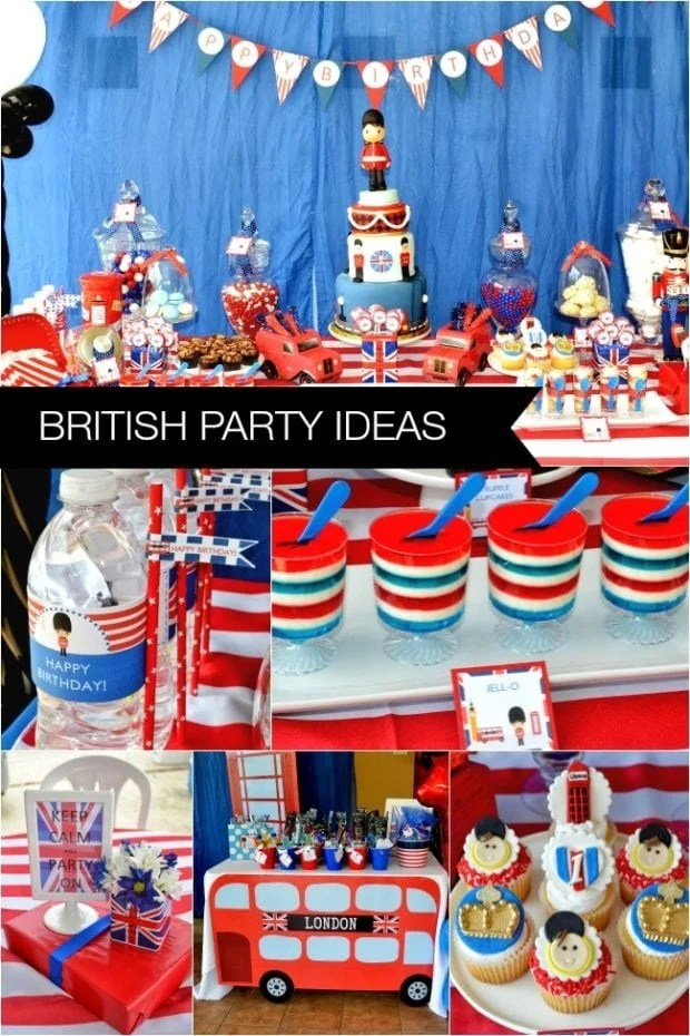 London Themed Boys First Birthday Party