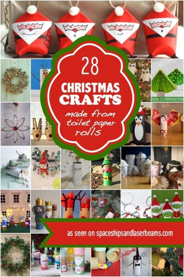 Kids Can 28 Christmas Crafts Made From Toilet Paper Rolls