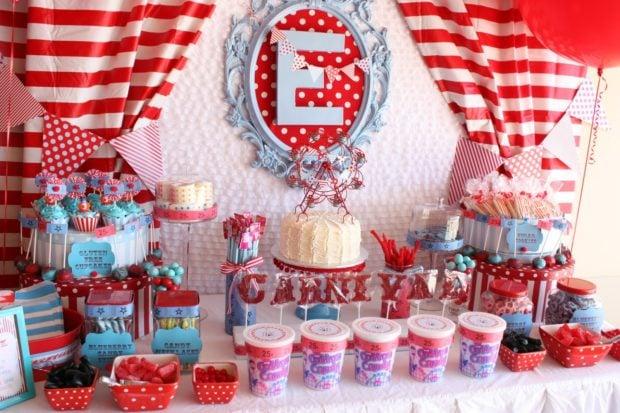 Inspiration Carnival Themed Dessert Table  Spaceships