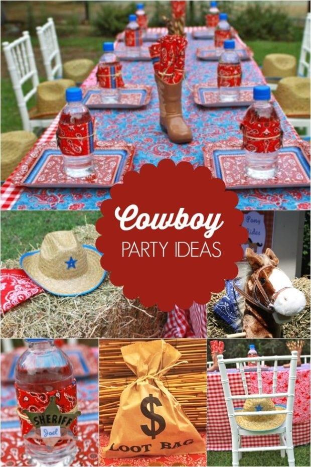 Giddy Up! It's A Boy's Western Themed Cowboy Birthday
