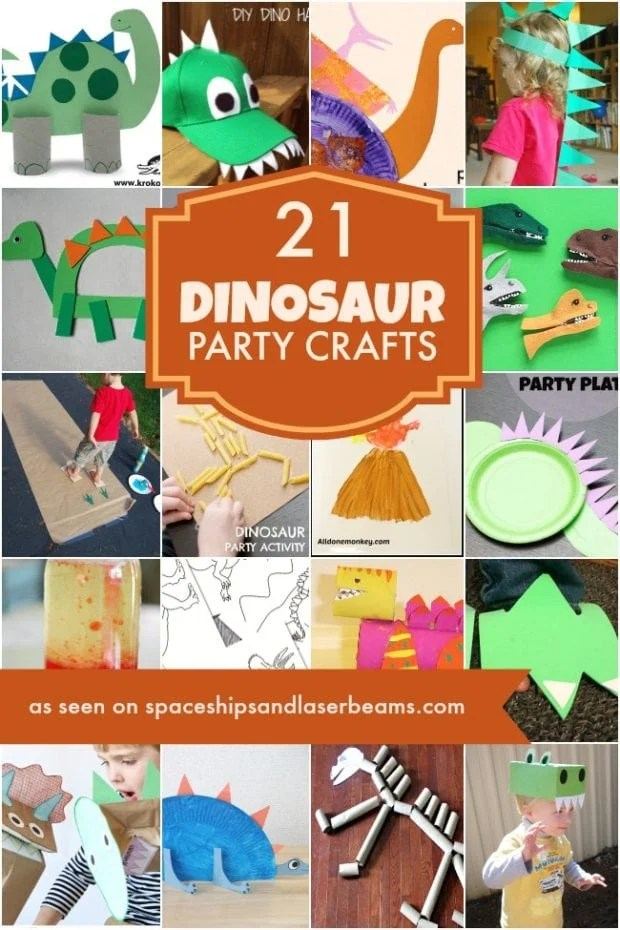 21 Dinosaur Crafts Ideas For Your Boys Party Spaceships