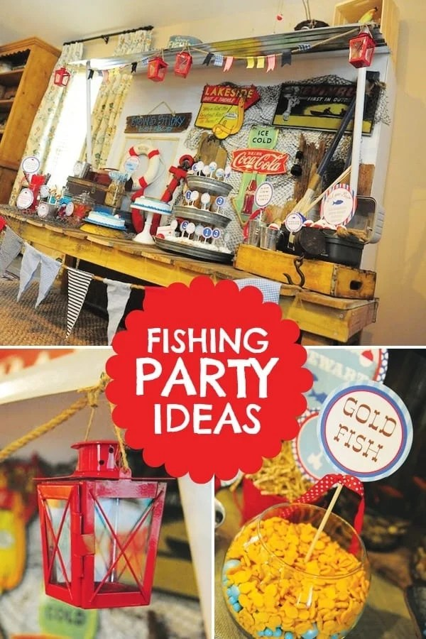 Fishing Themed Birthday Party  Spaceships and Laser Beams