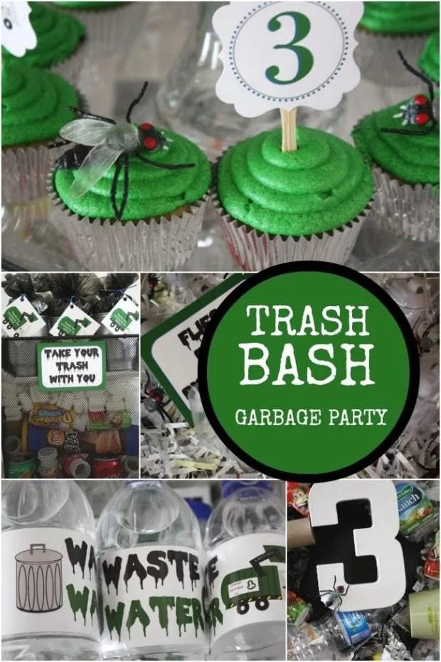 Garbage Truck Boy S Birthday Party Spaceships And Laser