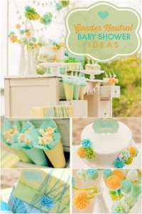 A Stunning Gender Neutral Baby Shower | Spaceships and ...