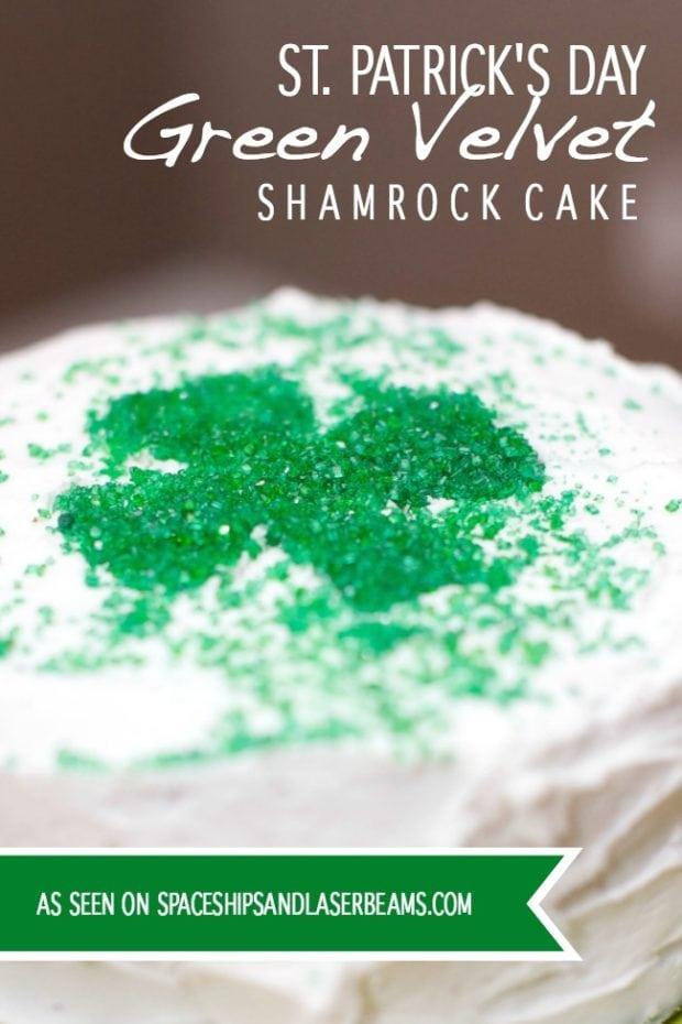 Green Velvet Cake For St Patricks Day