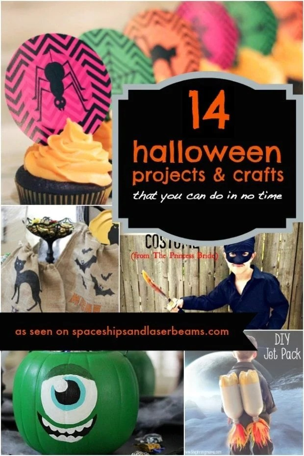 14 Easy DIY Halloween Projects  Crafts Ideas  Homemade Do It Yourself  Spaceships and Laser Beams