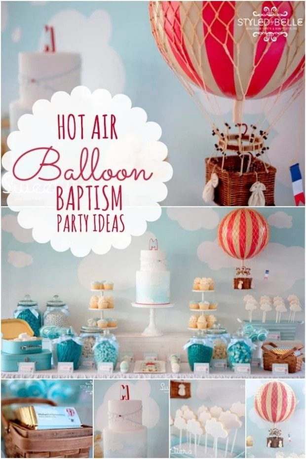 An Elegant Boy's Hot Air Balloon Christening Party