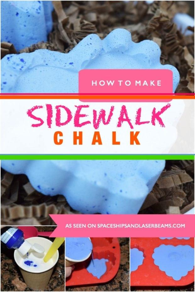 How to Make Sidewalk chalk