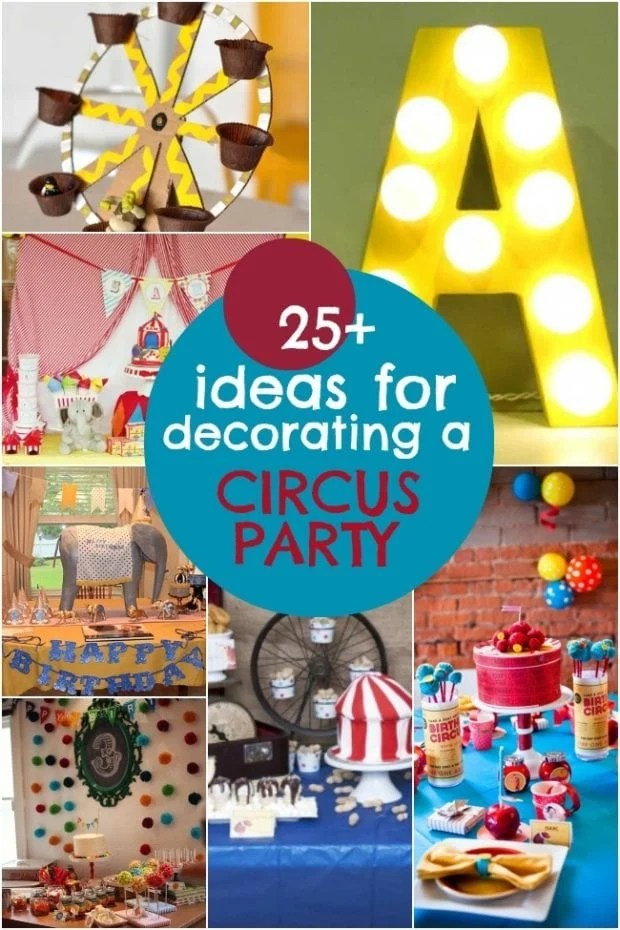 25 Circus Birthday Party Decorations  Spaceships and