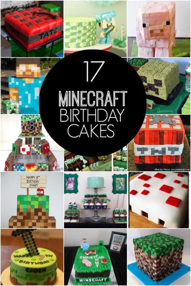 17 Minecraft Birthday Cake Ideas