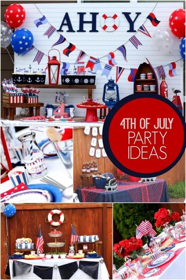 Nautical Themed 4th of July Party