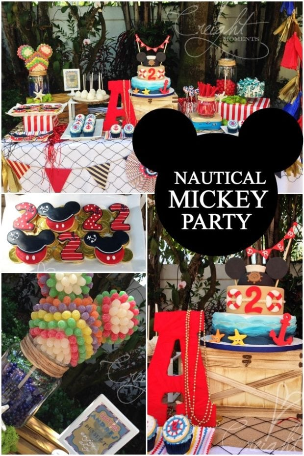 A Nautical Mickey Mouse Boys Birthday Party Spaceships