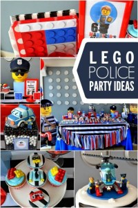 A Police Themed Boy's Lego Birthday Party | Spaceships and ...