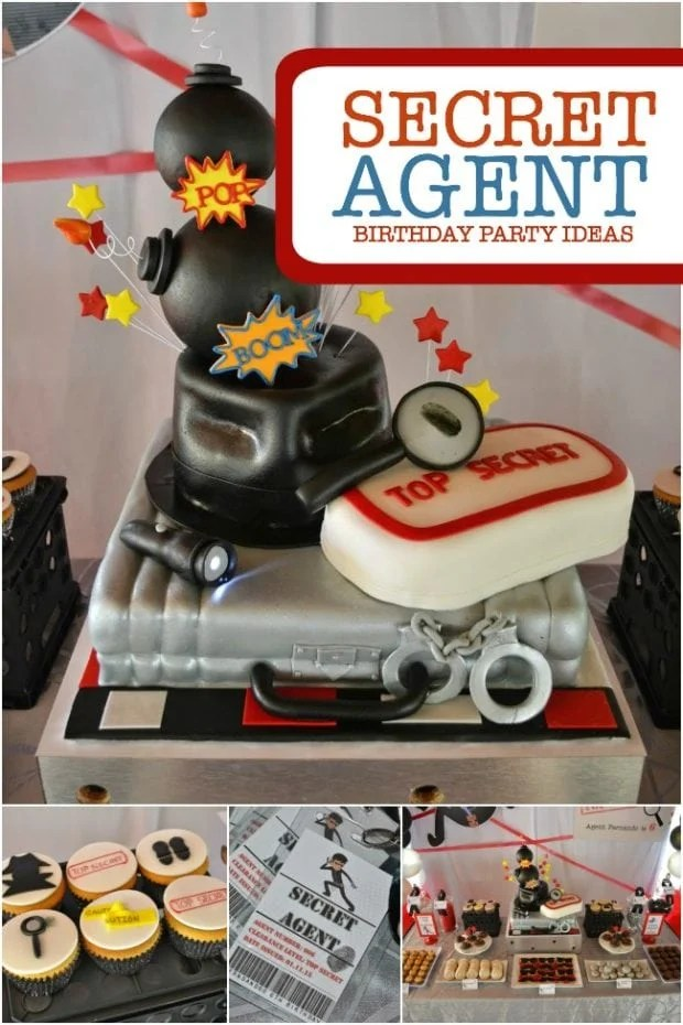 A Boy S Secret Agent Birthday Party Spaceships And Laser