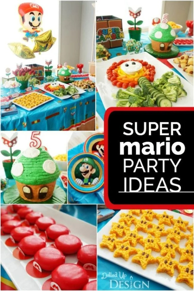 A Bright And Colorful Mario Kart Birthday Party