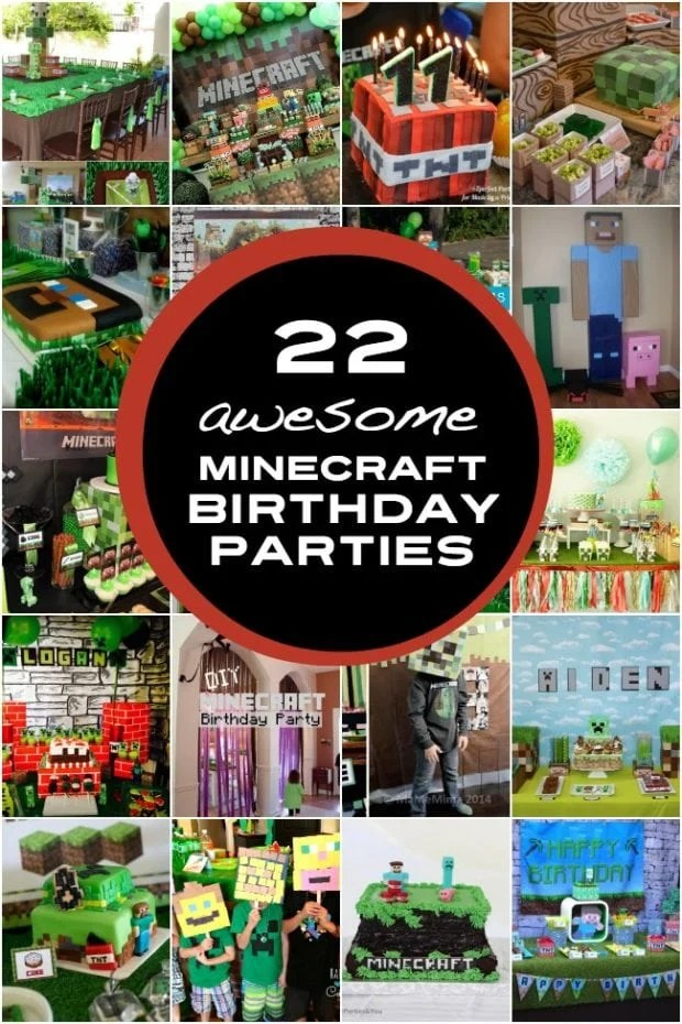22 Awesome Minecraft Birthday Parties