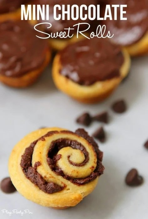 Mini Chocolate Sweet Rolls