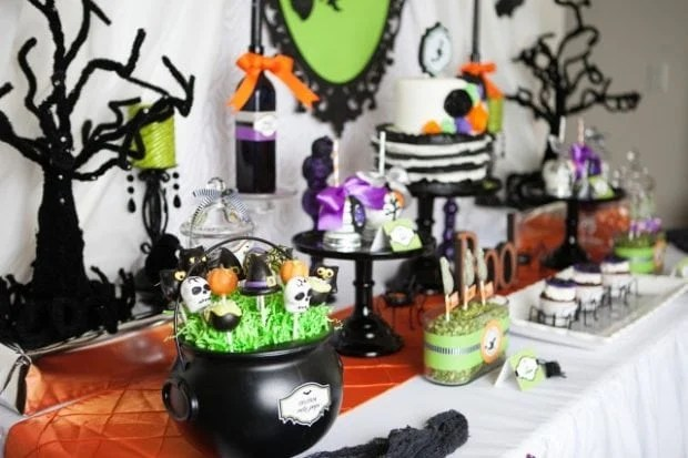 Witch themed Halloween Desset Table