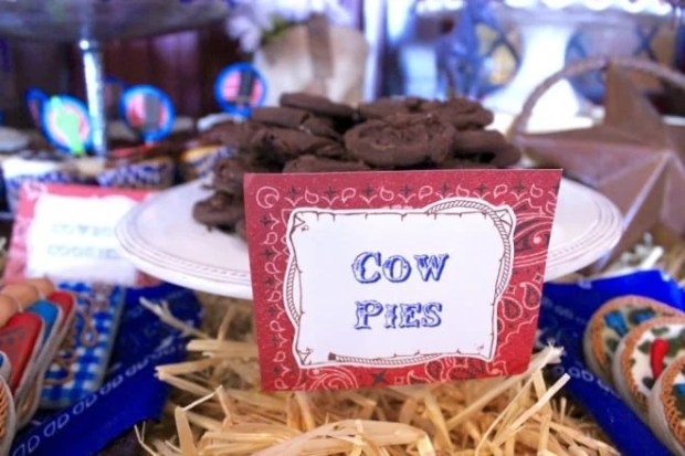 Cowboy Themed Western Cookie Cow Pie Party Food Ideas