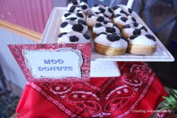 Cowboy Western Themed Birthday Party Food Donuts